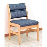 Dakota Wave by Wooden Mallet Standard Fabric Collection; Standard-Leg Armless Chair