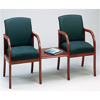 Lesro Weston Reception Room Furniture Collection in Standard Fabric; 2 Chairs with Center Table