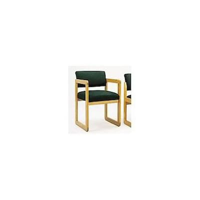Lesro Classic Series Open Back Reception Collection In Standard Fabric; Standard Guest Chair W/ Arms