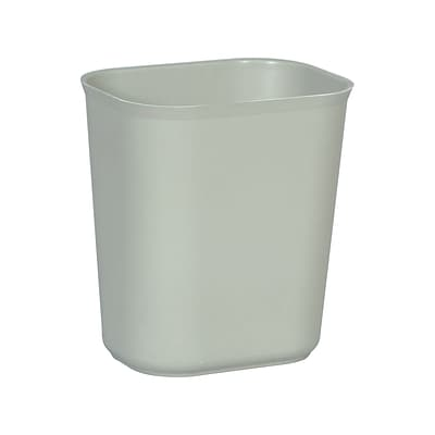 Rubbermaid® Fire-Resistant Wastebaskets, Gray, 14 Qt.