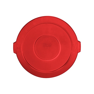 Rubbermaid® Round Brute® Receptable Lids, Red, Lid for 32 gal./ 121.12 liter