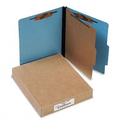 Acco® Presstex Classification Folders; Letter, 4-Section, Lt BE, 10/Box