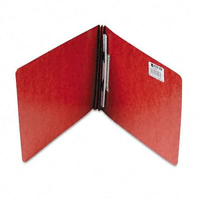 ACCO Pressboard Report Cover; Spring Clip, Letter, 2, Earth Red
