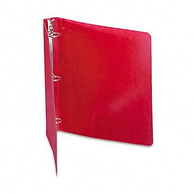 Acco® Wilson Jones® Presstex® 1 Round Ring Binder; Non-View, Executive Red, 3-Ring