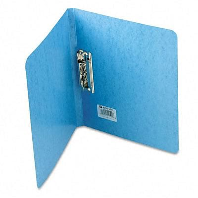 Presstex Grip Punchless Binder w/Spring-Action Clamp, 5/8in Cap, Light Blue