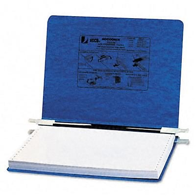 Pressboard Hanging Data Binder, 12 x 8-1/2 Unburst Sheets, Dark Blue