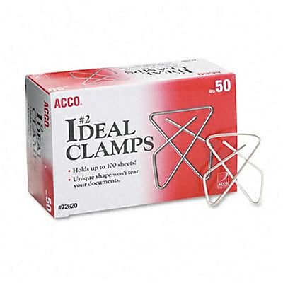 Ideal Clamps, Steel Wire, Small (1-1/2), Silver, 50/box