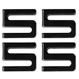 Alera™ Industrial Wire Shelving Components; S Hooks, Black