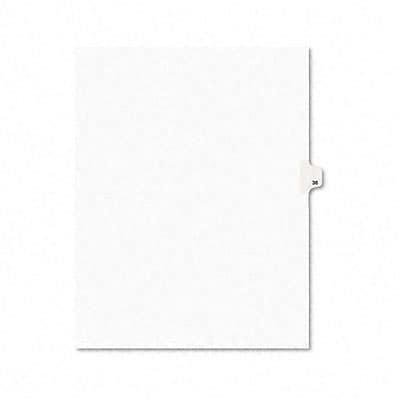Avery-Style Legal Side Tab Dividers, 1-Tab, Title 36, Letter, WE, 25/pk