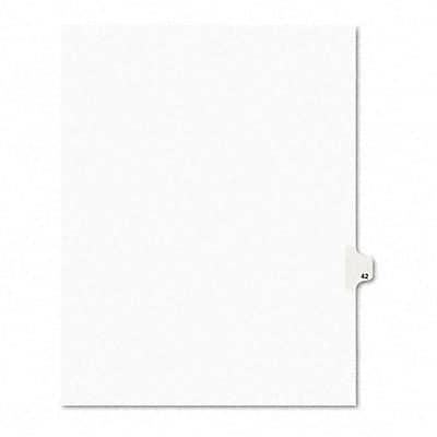 Avery-Style Legal Side Tab Dividers, 1-Tab, Title 42, Letter, WE, 25/pk