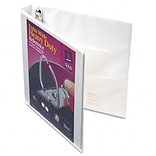 Avery® Extra-Wide Heavy-Duty One Touch EZ-Turn™ Gap Free™ 1 D-Ring Binder; View, White, 3-Ring