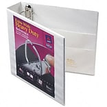 Avery® Extra-Wide Heavy-Duty One Touch EZ-Turn™ Gap Free™ 2 D-Ring Binder; View, White, 3-Ring