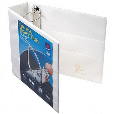 Avery® Extra-Wide Heavy-Duty One Touch EZ-Turn™ Gap Free™ 3 D-Ring Binder; View, White, 3-Ring