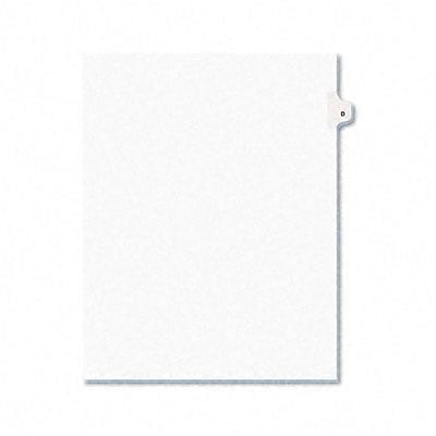 Avery® Avery-Style Legal Side Tab Dividers Individual Letters; 1-Tab, Title D, Letter, WE, 25/pk