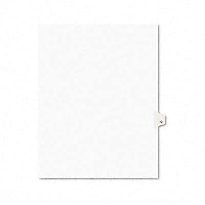 Avery® Avery-Style Legal Side Tab Dividers Individual Letters; 1-Tab, Title Q, Letter, WE, 25/pk