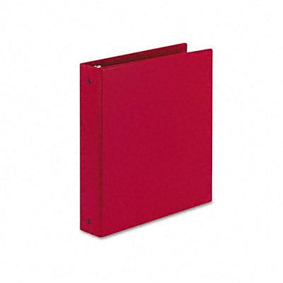 Avery® Economy 1-1/2 Round Ring Binder; Non-View, Red, 3-Ring
