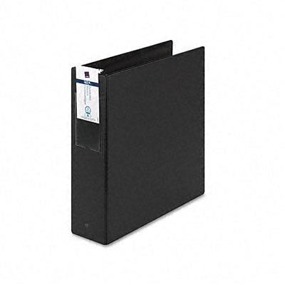 Avery® Economy 3 Round Ring Binder with Label Holder; Non-View, Black, 3-Ring
