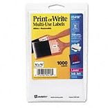 Avery® Removable Print or Write Multipurpose Labels; White, 1/2x3/4, 1000 Labels
