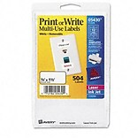 Avery® Removable Print or Write Multipurpose Labels; White, 3/4x1-1/2, 504 Labels