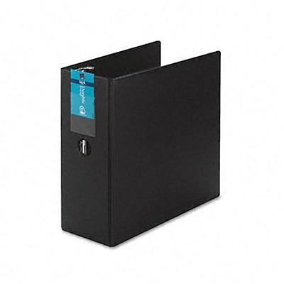 Avery® Durable Gap Free™ Slant 5 D-Ring Binder With Label Holder; Non-View, Black, 3-Ring