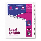 Avery-Style Legal Side Tab Dividers, 25-Tab, 26-50, Letter, WE, 25/set