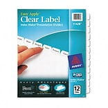 Avery® Clear Label Copier Indexes