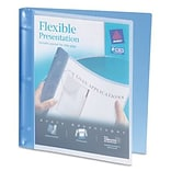 Avery® Flexible 1/2 Round Ring Binder; View, Blue, 3-Ring