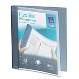 Avery® Flexible 1 Round Ring Binder; View, Gray, 3-Ring