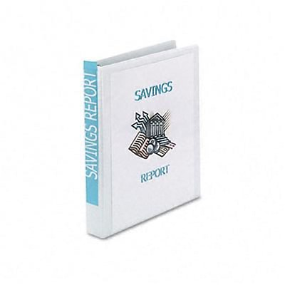 Avery® Economy Showcase 1 Round Ring Binder; View, White, 3-Ring