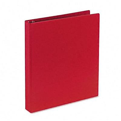 Avery® Durable EZ-Turn™ Gap Free™ 1 Round Ring Binder; Non-View, Red, 3-Ring