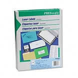 Avery® PRES-a-ply® Address Labels; White, 1x2-5/8, 7500 Labels
