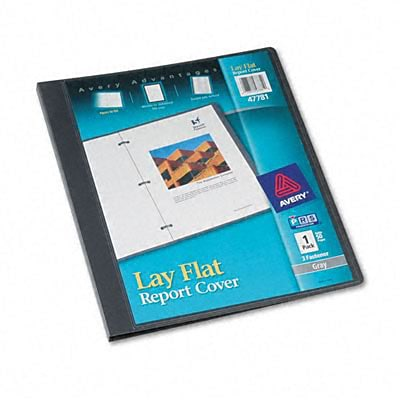 Polypropylene Report Cover, Flex Fastener, Letter, 1/2 Capacity, Clear/Gray