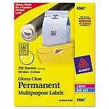 Avery® Permanent Durable ID Laser Labels; 1-2/3 dia., 500/Pack