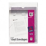 Avery® Top Loading Vinyl Sheet Protector Envelopes, 9x12