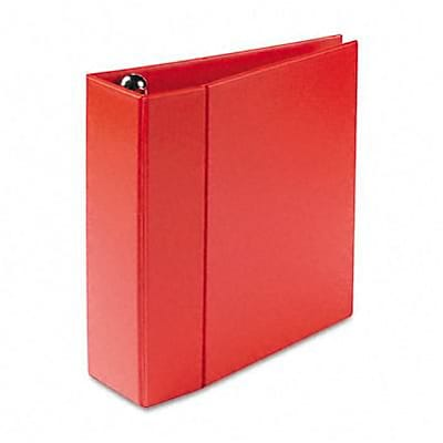 Avery® Heavy-Duty One Touch EZD™ 4 D-Ring Binder; Non-View, Red, 3-Ring