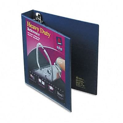 Avery® Heavy-Duty One Touch EZD™ Nonstick 1-1/2 D-Ring Binder; View, Navy Blue, 3-Ring
