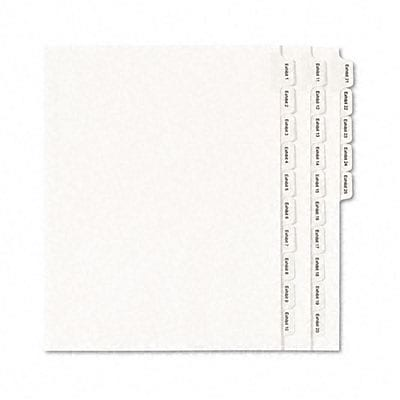 Avery® Allstate® Style Collated Legal Side Tab Dividers;  25-Tab, Exhibit 1-25, Letter, WE