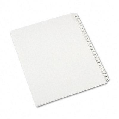 Avery® Collated Legal Side Tab Dividers Allstate® Style;  25-Tab,151-175, Letter, White