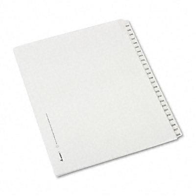 Avery® Collated Legal Side Tab Dividers Allstate® Style; 25-Tab, 226-250, Letter, White