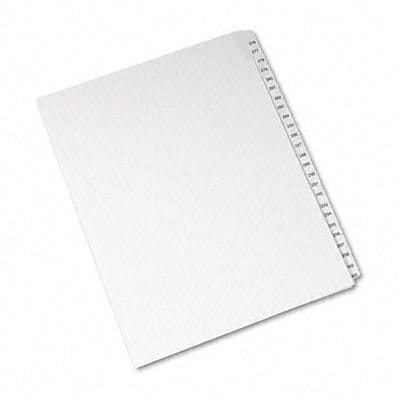 Avery® Collated Legal Side Tab Dividers Allstate® Style; 25-Tab, 276-300, Letter, White
