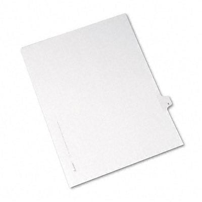 Avery® Allstate-Style Individual Number Legal Index Dividers; Title: 8, Letter, White, 25/pk