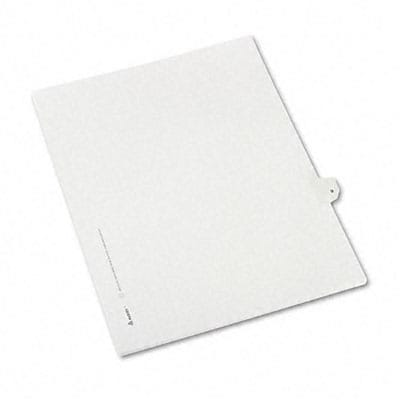 Avery® Allstate-Style Individual Number Legal Index Dividers; Title: 9, Letter, White, 25/pk
