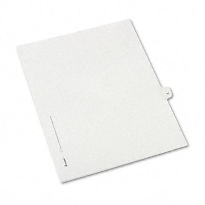 Avery® Allstate-Style Individual Number Legal Index Dividers; Title: 10, Letter, White, 25/pk