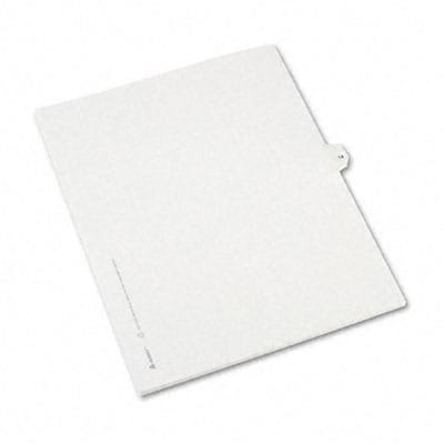 Avery® Allstate-Style Individual Number Legal Index Dividers; Title: 14, Letter, White, 25/pk