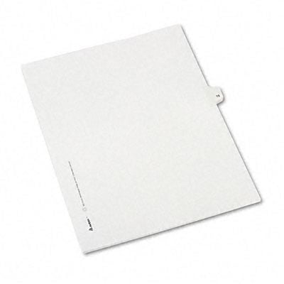 Avery® Allstate-Style Individual Number Legal Index Dividers; Title: 15, Letter, White, 25/pk