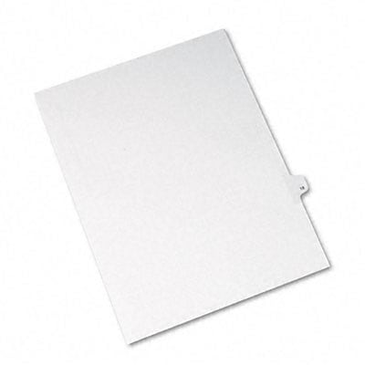 Avery® Allstate-Style Individual Number Legal Index Dividers;Title: 18, Letter, White, 25/pk