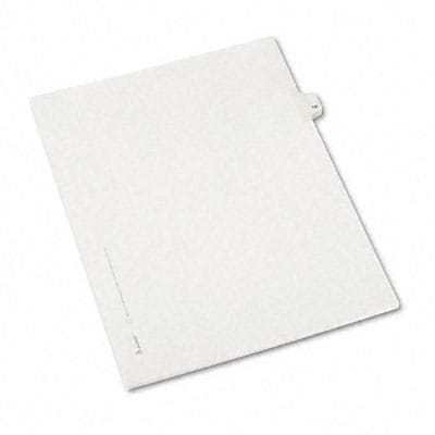 Avery® Allstate-Style Individual Number Legal Index Dividers; Title: 19, Letter, White, 25/pk