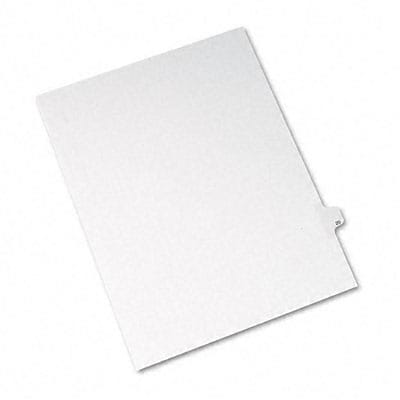 Avery® Allstate-Style Individual Number Legal Index Dividers; Title: 20, Letter, White, 25/pk