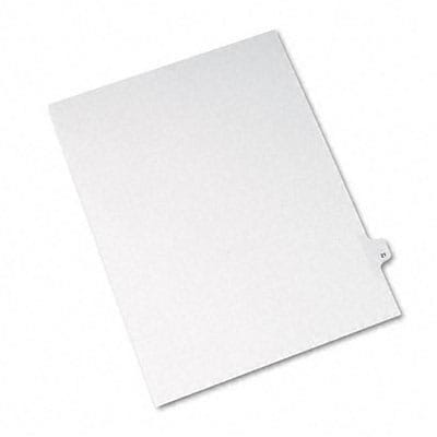 Avery® Allstate-Style Individual Number Legal Index Dividers; Title: 21, Letter, White, 25/pk