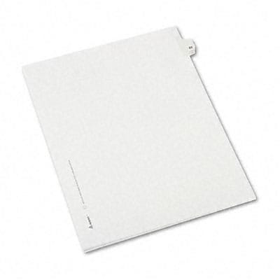 Avery® Allstate-Style Individual Number Legal Index Dividers; Title: 23, Letter, White, 25/pk